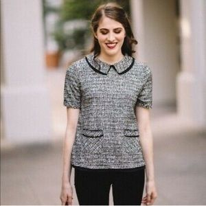 Anthropologie Postmark Thornburgh Boucle Top